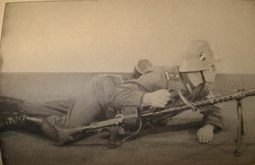 prone position with MG34